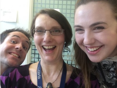 circus team selfie