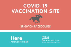 The Covid Vaccination Site at the Brighton Racecourse Opens its Doors